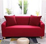 Wasserabweisende Elastik Sofa Hülle (Rot, 235 x 300cm)