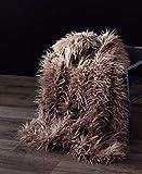 Orient Home Collection De moocci Luxus Super Weiches Mongolisches Kunstfell Überwurf Decke, 50in 60in, Cozy Warm Atmungsaktiv, Best für Winter–Décor für Schlafcouch 50*60'' Helles kaffebraun