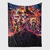 YZDM Fleecedecke Marvel Avengers, Hulk, Spiderman, Thor, Iron Man Mikrofaser Decke für Kinder, für Haus und Unisex, Schlafsofa Wohnzimmer (Q,150 x 200)