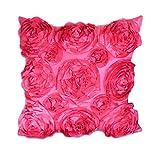 Fengyuanhong Hochzeits-Dekoration Rose gestickte Kissenbezug Auto pillowslip Quadrade Pillowslip Kissenbezug Werfen Pillowcase Car Schlafsofa