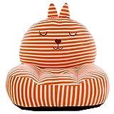 PUDDINGT® Sessel Schlafsofa Tier für Kinder In Outdoor Sitzsäcke Kissen Sofa Sofakissen Hocker Sitzkissen Bodenkissen Füllung Möbel Samt,Orange
