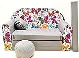 Pro Cosmo A33 Kinder-Schlafsofa mit Sitzhocker/Kissen, Coton, Mehrfarbig, 168 x 98 x 60 cm