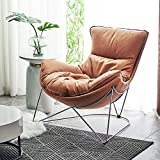 ZSAIMD Velvet Akzent-Stuhl Schlafsofa Bequeme Polster Plissee Zurück Arm Chair Sessel Einzel Sofa Gold Plating for Wohnzimmer Schlafzimmer Hosting Zimmer (Color : Orange)