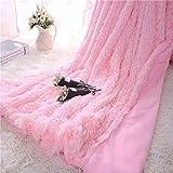 KAIHONG Kuscheldecke Wohndecke Tagesdecke Microfaser Kunstfell Decke für Couch Bett Leicht flauschig - (130 * 160 cm,Rosa)