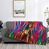 Wonder-Woman 1984 bequeme Flanell-Fleece-Überwurfdecke für Schlafcouch, Sofa, Bett, leicht, superweich, gemütlich, Luxus-Bettdecke, Mikrofaser
