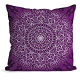 N\A Rundes dColorfulrative sanftes weißes und Violettes Muster (Vektor), quadratisches Kissenbezug-Schlafsofa nach Hause