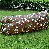 YDJGY Mittagspause Lazy Inflatable Air Schlafsofa Tragbar Einfach Zusammenklappbar Schnell Aufblasbar Air Sofa Aufblasbar Lazy Schlafsack Lazy Inflatable Hocker,Deep Camouflage