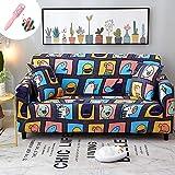 Elastisch Sofa Überwürfe Sofabezug, Morbuy Ecksofa L Form Stretch Antirutsch Armlehnen Sofahusse Sofa Abdeckung Hussen für Sofa Couchbezug Sesselbezug (2 Sitzer,Kindheit)