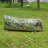 YDJGY Mittagspause Lazy Inflatable Air Schlafsofa Tragbar Einfach Zusammenklappbar Schnell Aufblasbar Air Sofa Aufblasbar Lazy Schlafsack Lazy Inflatable Hocker,Camouflage