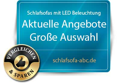 Schlafsofa mit LED Beleuchtung
